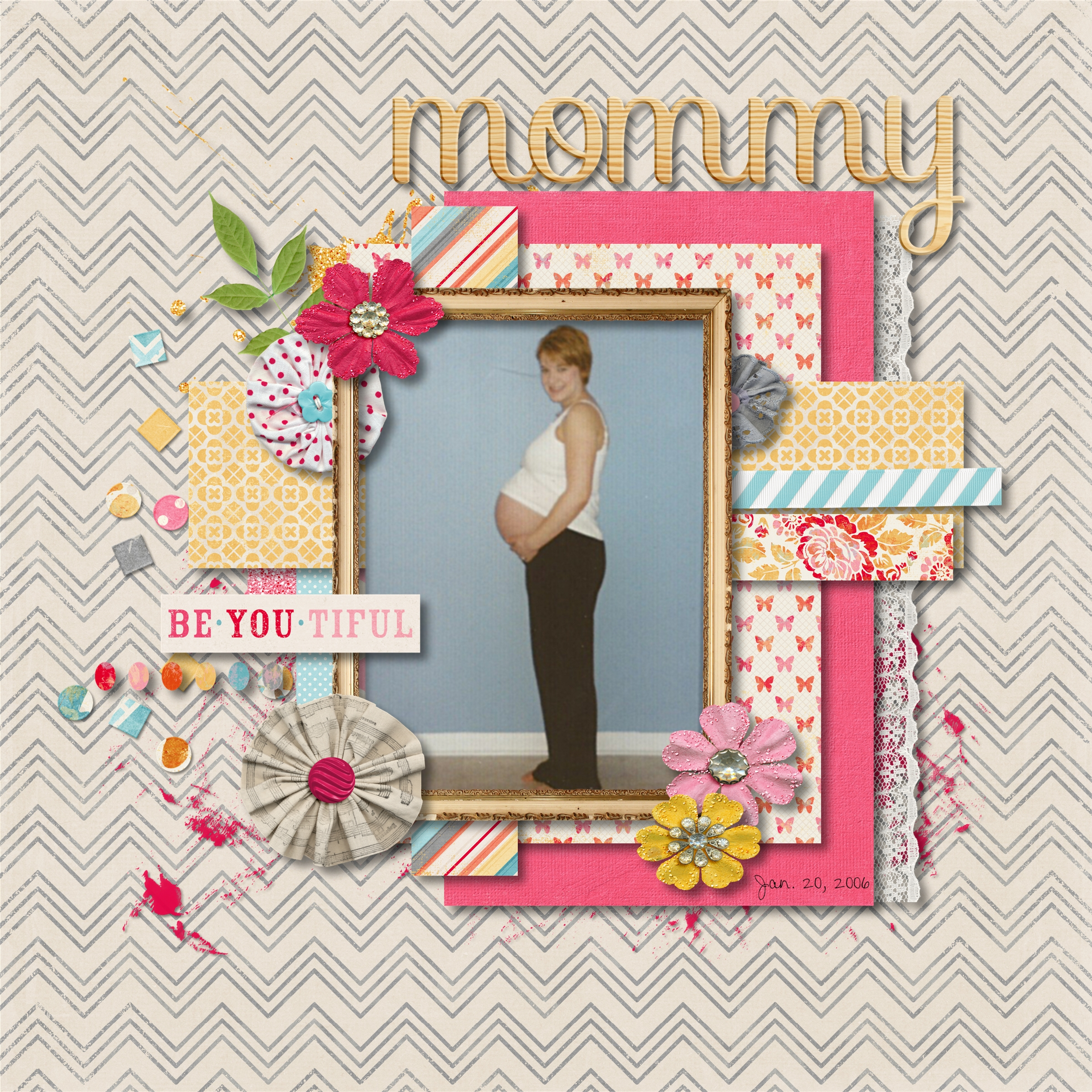 How to scrapbook baby book - Carly S Baby Book Page 002