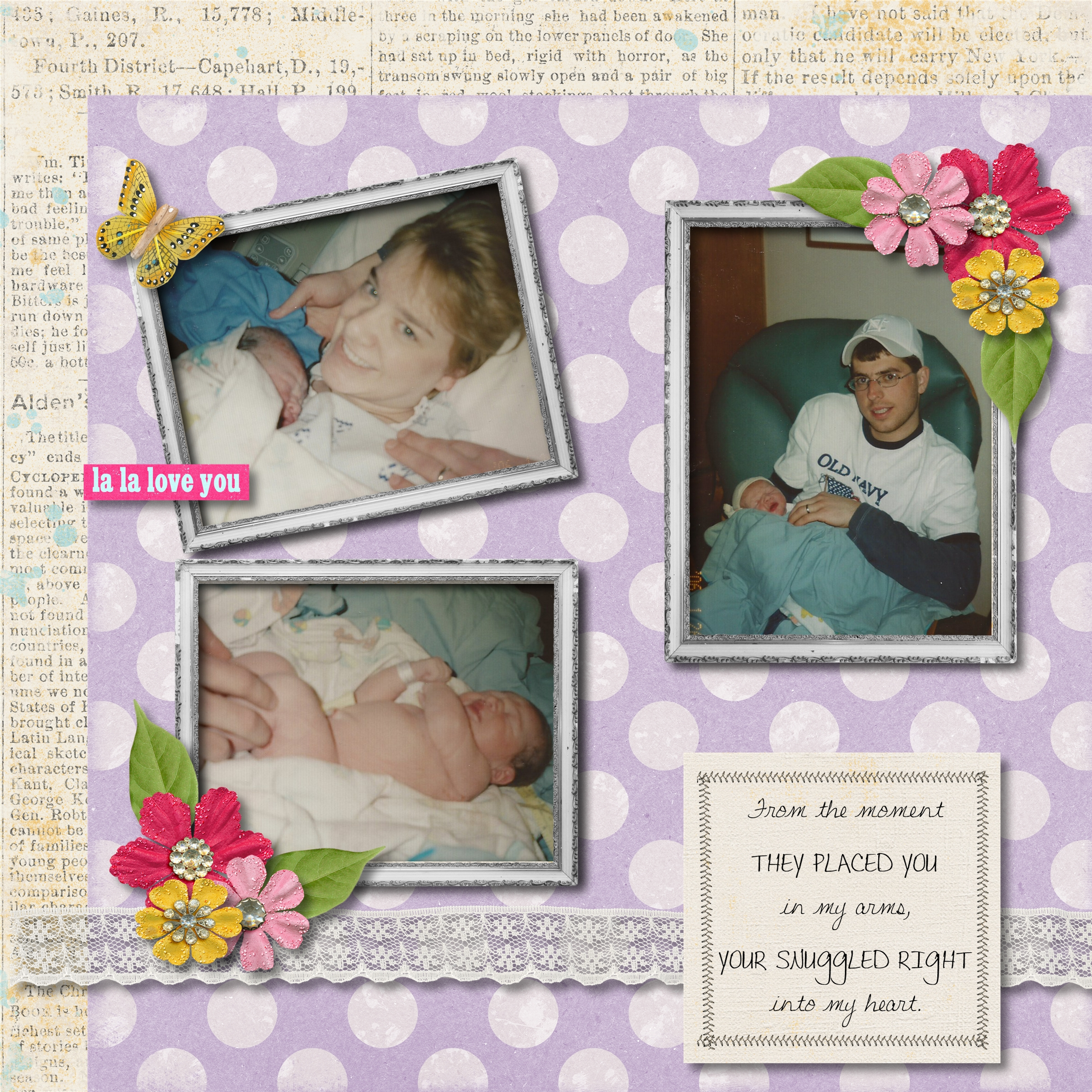 How to scrapbook baby book - Carly S Baby Book Page 004