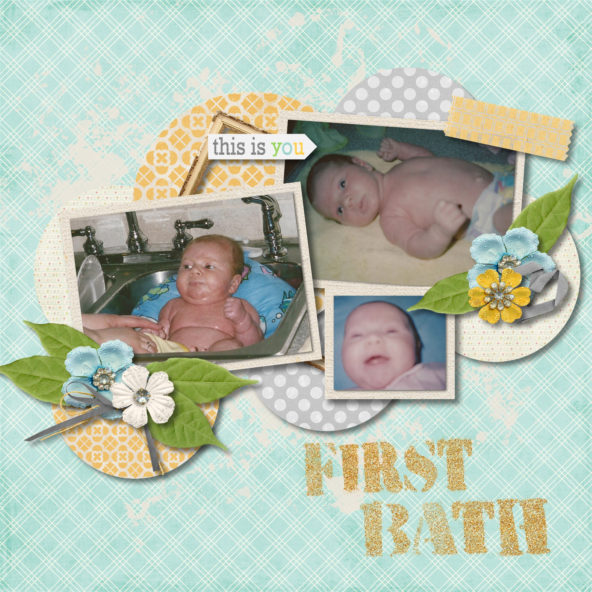 How to scrapbook baby book - Carly S Baby Book Page 010